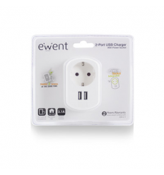 EWENT 2 Poorts USB 3.1A Lader