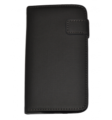 iPhone 6 4,7 Wallet Canvas with Card Holder Black