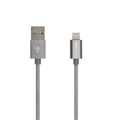 Lightning Charge\Sync Cable\Braided\Silver