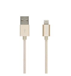 Lightning Charge\Sync Cable\Braided\Gold